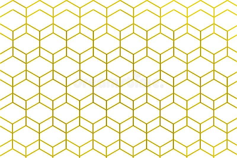 Ilustração do pente do mel no fundo branco ilustração royalty free