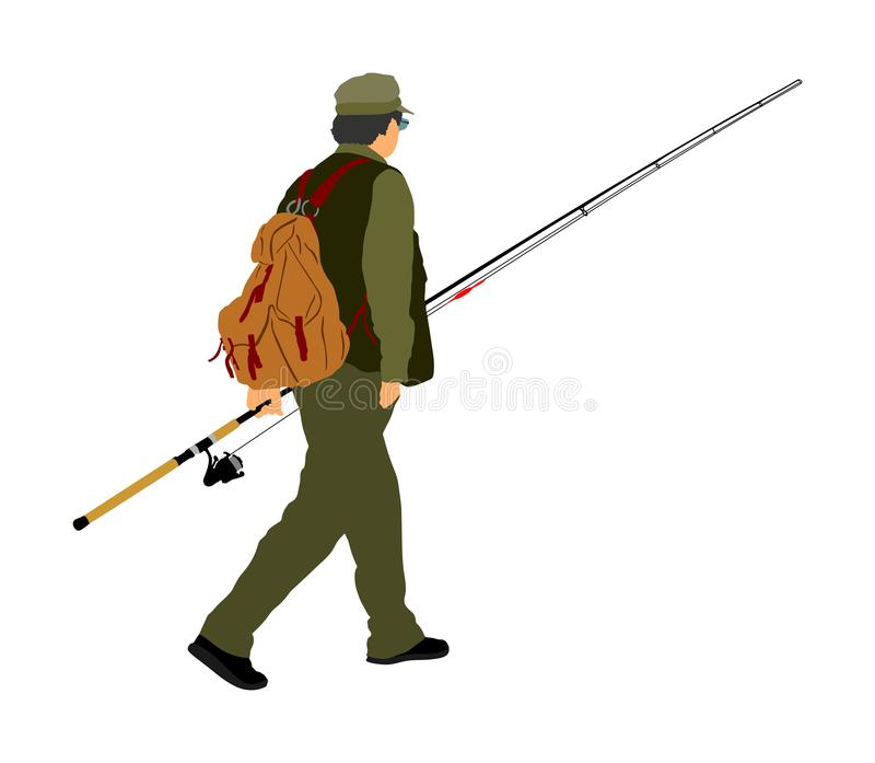 Ilustração do pescador ilustração royalty free