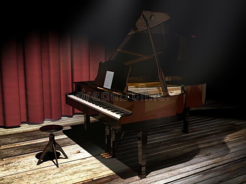 Ilustração do piano ilustração stock