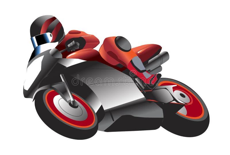 Ilustração do piloto da motocicleta ilustração royalty free