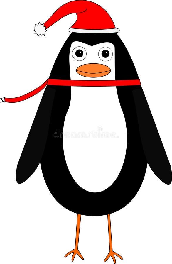 Ilustração do pinguim do Natal dos desenhos animados fotografia de stock