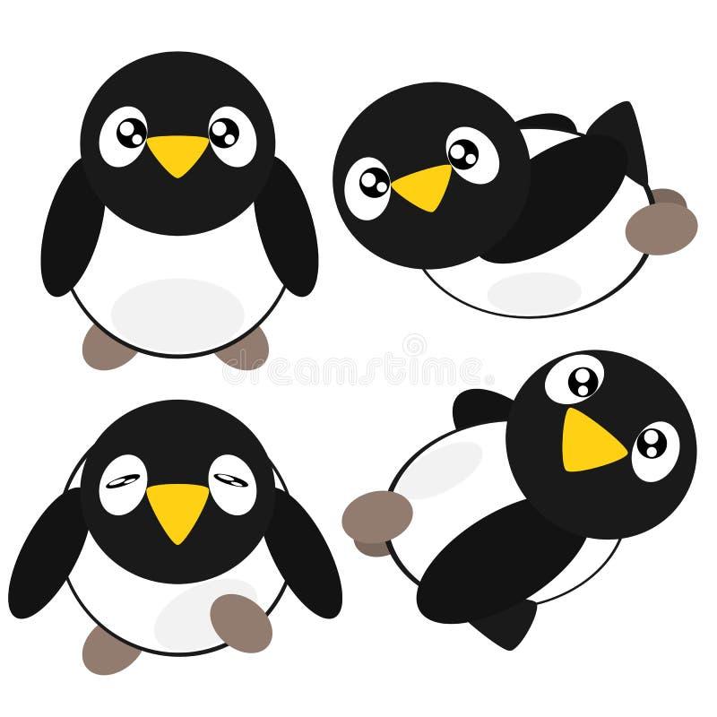 Ilustração do pinguim dos desenhos animados ilustração stock