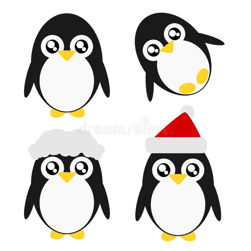 Ilustração do pinguim dos desenhos animados ilustração royalty free