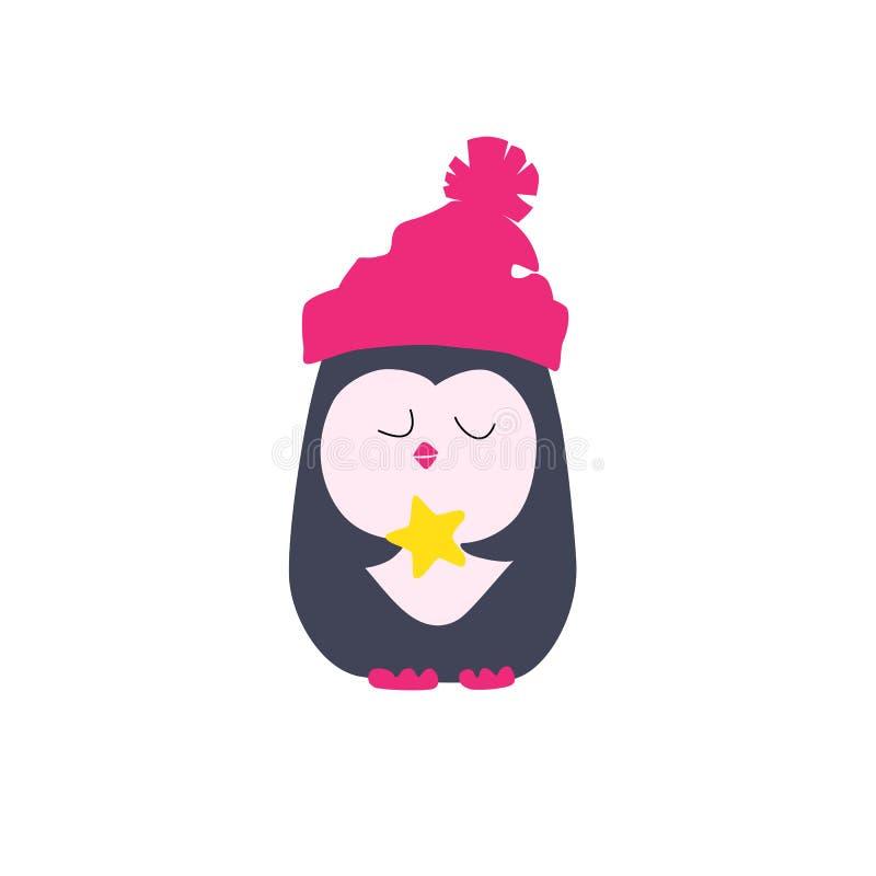 Ilustração do pinguim engraçado ilustração royalty free