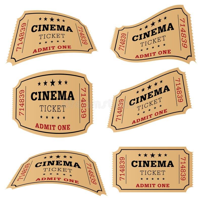 Ilustração do plateau de filmagem do bilhete do cinema ilustração do vetor