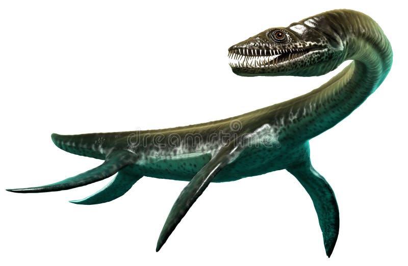Ilustração do Plesiosaurus 3D ilustração stock