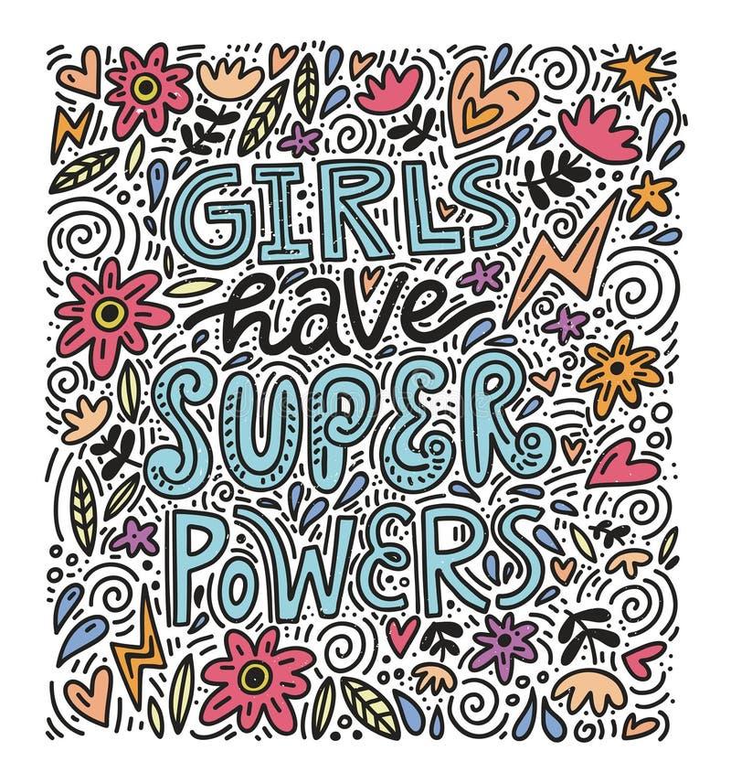 Ilustração do poder da menina ilustração stock
