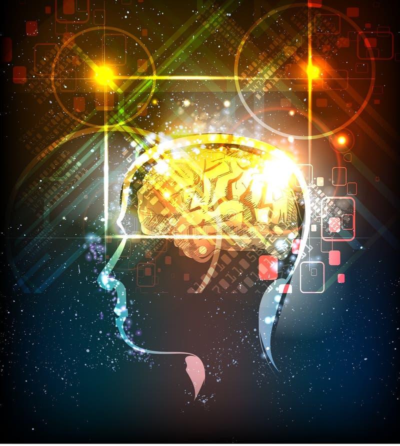 Ilustração do poder de cérebro de ser humano ilustração royalty free