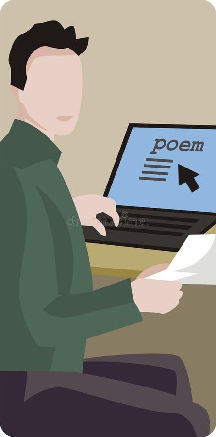Ilustração do poeta ilustração royalty free