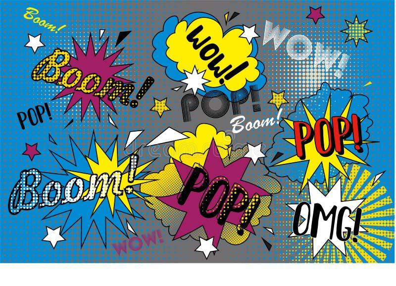 Ilustração do pop art imagens de stock royalty free