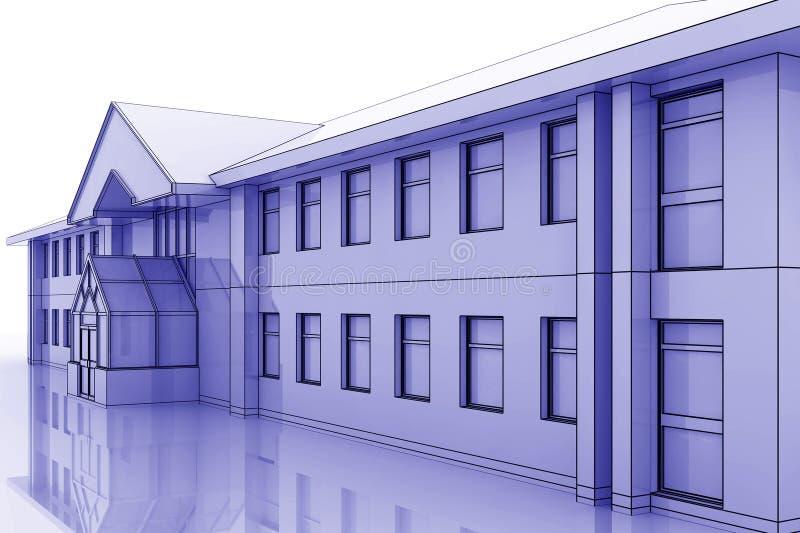 Ilustração do prédio de escritórios ilustração royalty free