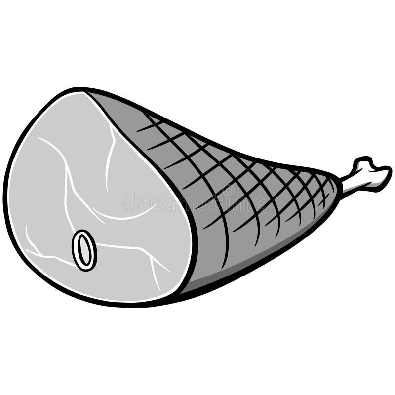 Ilustração do presunto ilustração do vetor