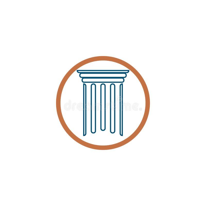 ilustração do projeto do ícone do vetor de Logo Template da coluna ilustração stock
