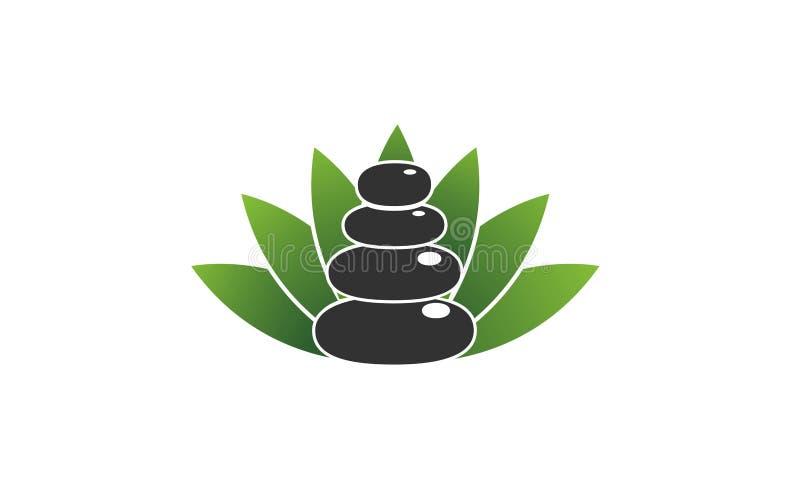 Ilustração do projeto de Zen Spa Stone Logo Symbol ilustração stock