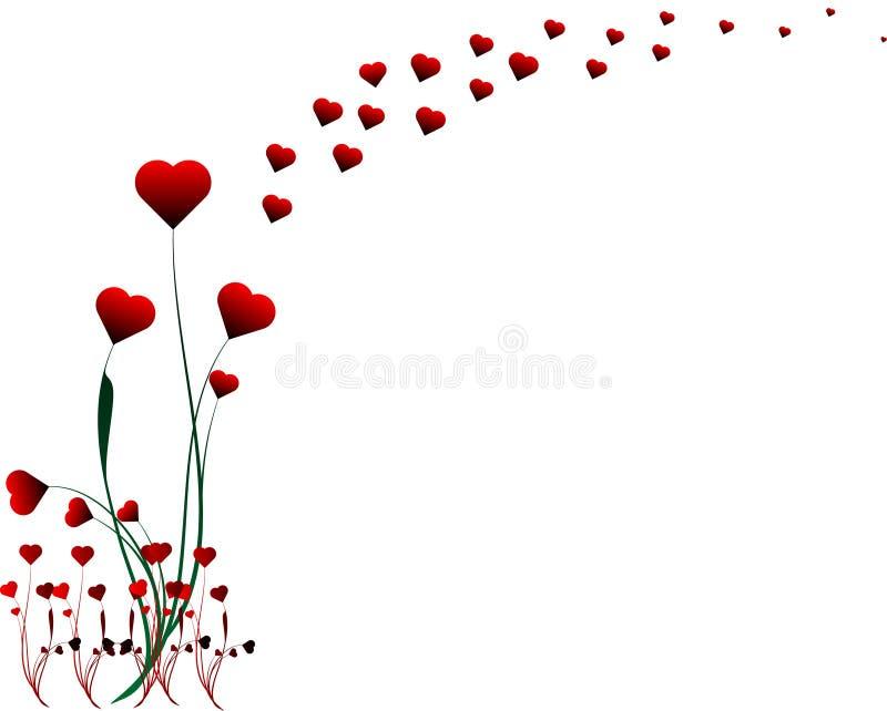 Ilustração do projeto do coração do Valentim ilustração stock