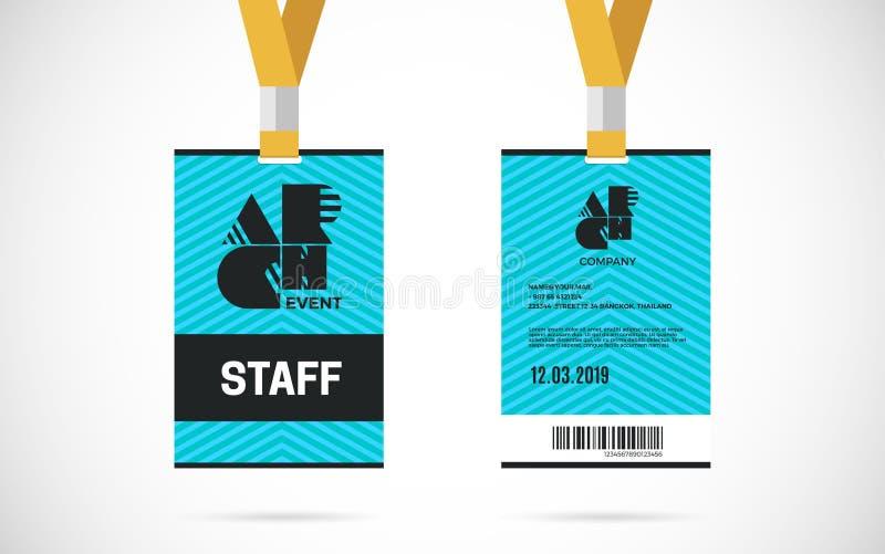 Ilustração do projeto do vetor do grupo de cartão da identificação do pessoal ilustração royalty free