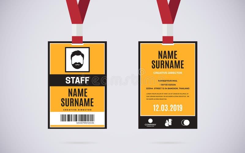 Ilustração do projeto do vetor do grupo de cartão da identificação do pessoal ilustração do vetor