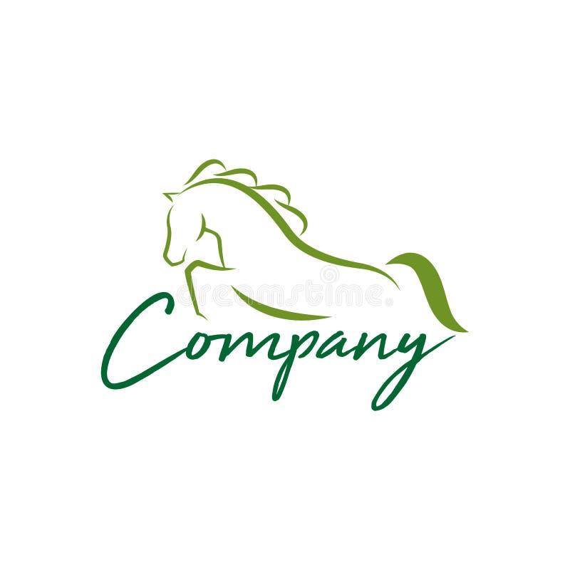 Ilustração do projeto do logotipo do cavalo, vetor da silhueta do cavalo, ilustração do vetor do cavalo ilustração do vetor