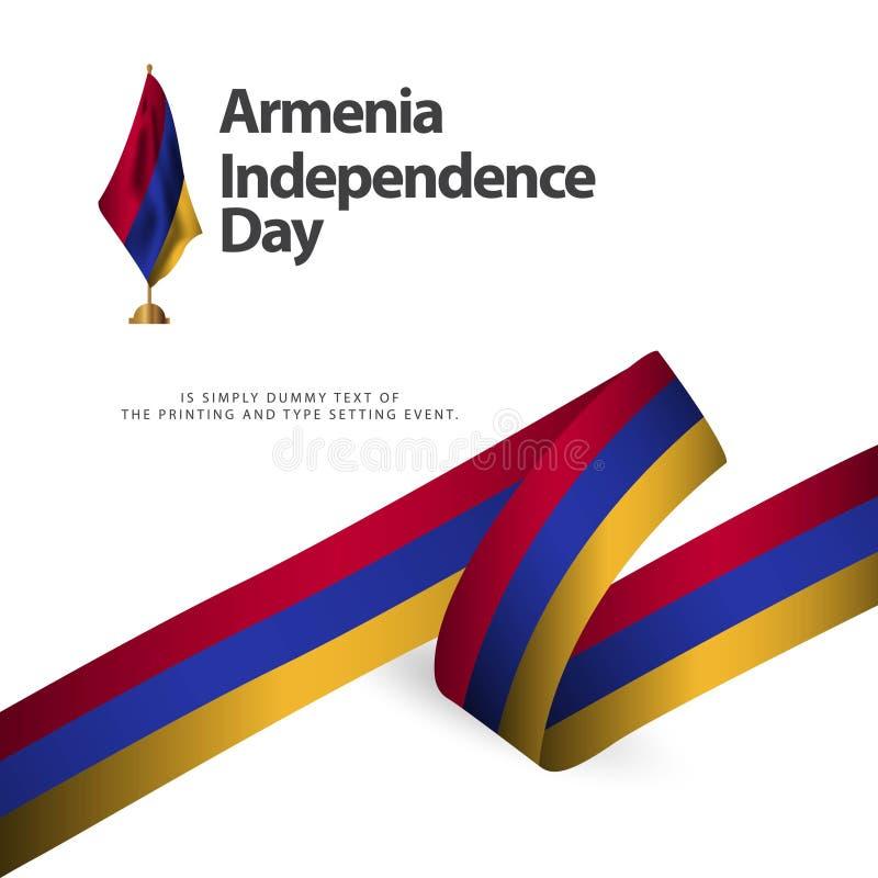Ilustração do projeto do molde do vetor do Dia da Independência de Armênia ilustração royalty free