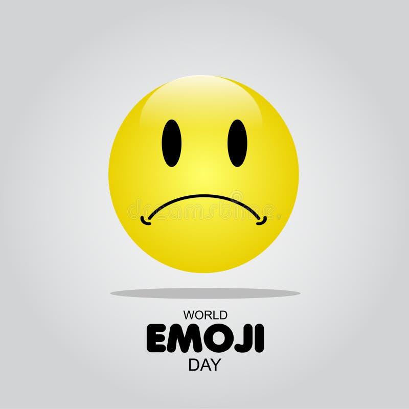 Ilustração do projeto do molde do vetor do dia de Emoji do mundo fotografia de stock royalty free