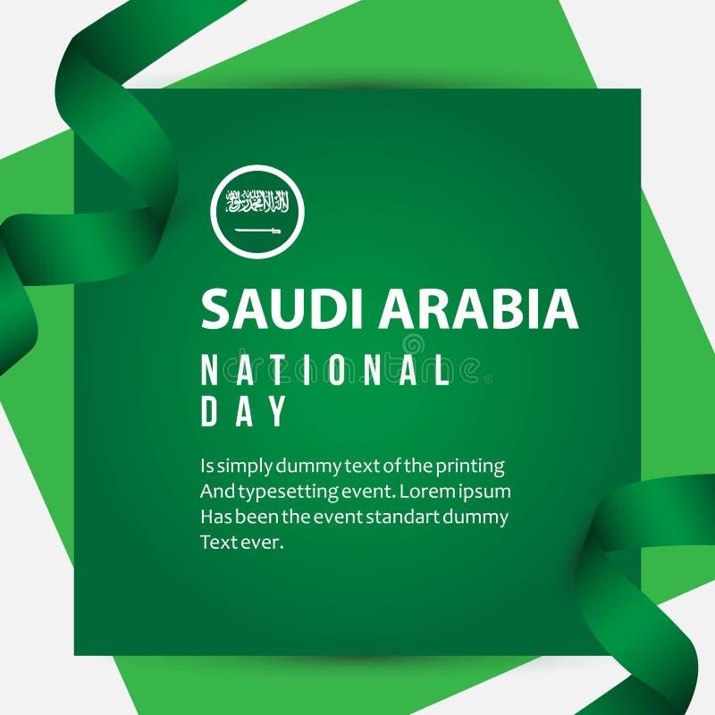 Ilustração do projeto do molde do vetor do dia nacional de Arábia Saudita ilustração do vetor