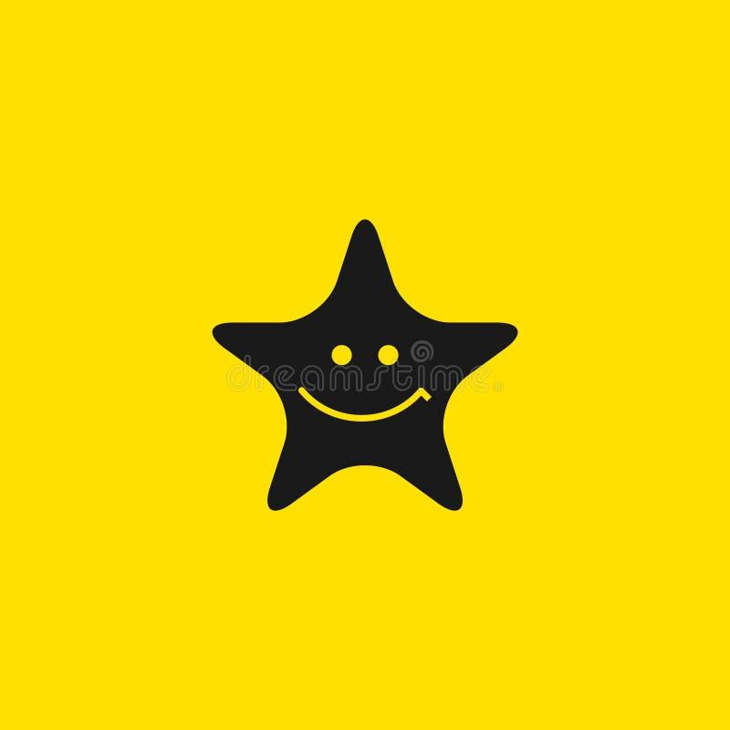 Ilustração do projeto do molde do vetor do sorriso da estrela ilustração do vetor