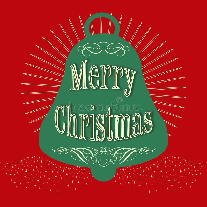 Ilustração do projeto do texto do Feliz Natal ilustração royalty free