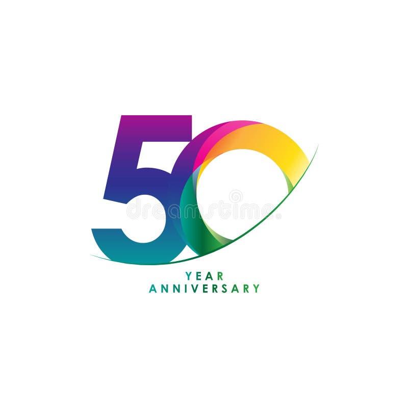 Ilustração do projeto do vetor de um aniversário de 50 anos ilustração do vetor