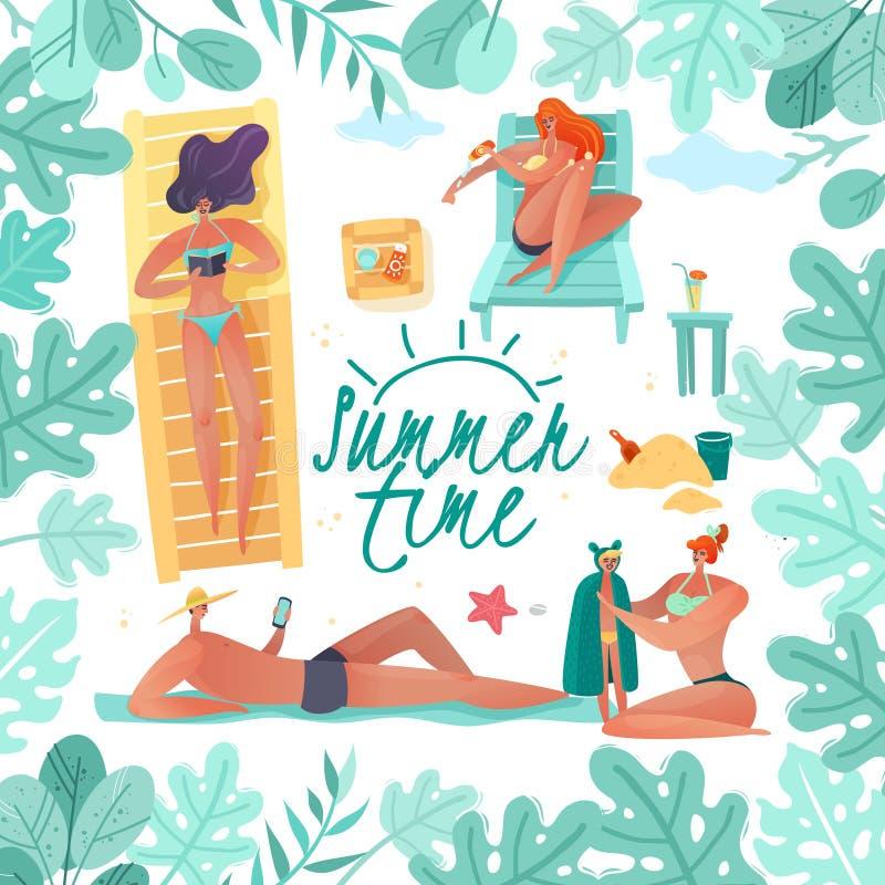 Ilustração do quadro das férias de verão ilustração stock