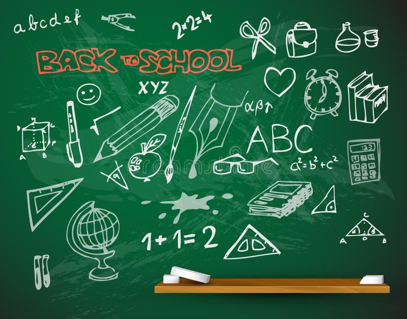 Ilustração do quadro-negro da escola do vetor ilustração royalty free
