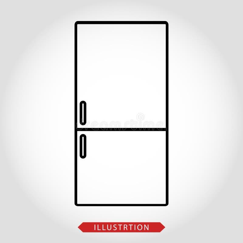 Ilustração do refrigerador - refrigerador do vetor isolado - dispositivo de cozinha da casa agregado familiar elétrico ilustração do vetor