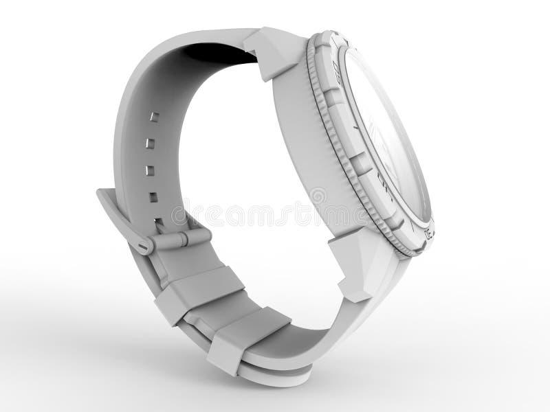 Ilustração do relógio de pulso 3D ilustração royalty free