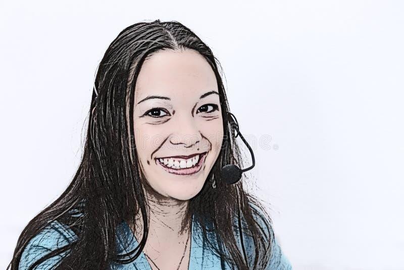 Ilustração do representante do serviço de atenção a o cliente ilustração royalty free
