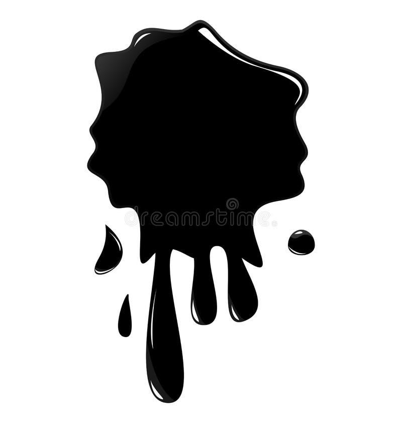 Ilustração do respingo preto da tinta ilustração stock