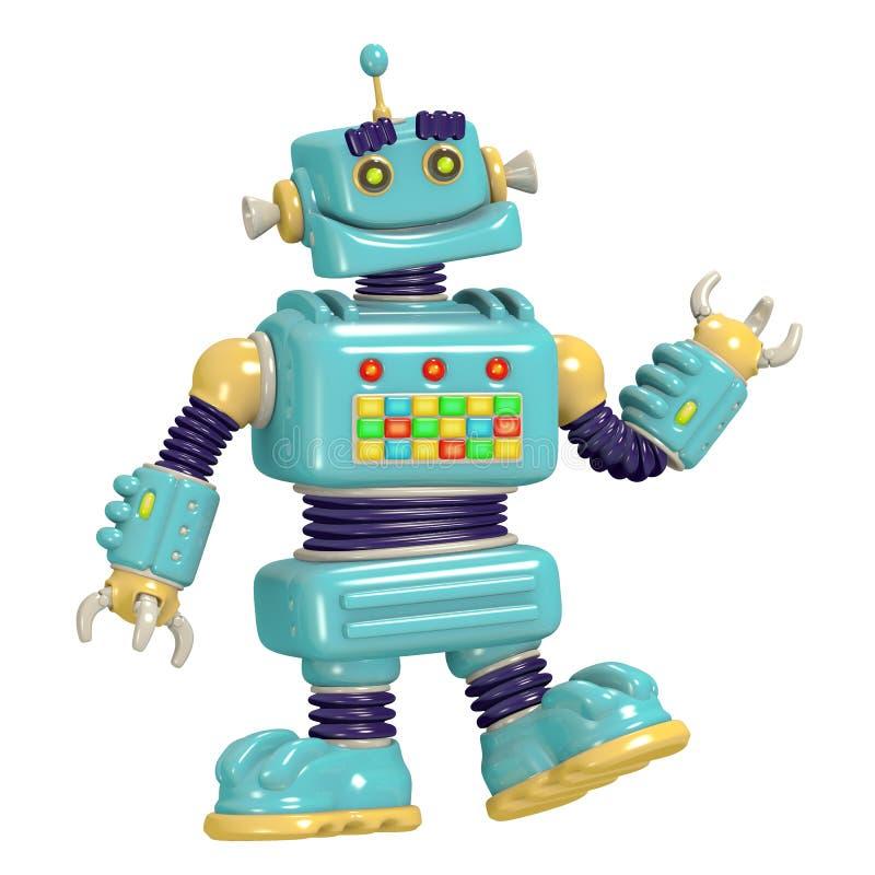 Ilustração do robô 3D dos desenhos animados ilustração do vetor