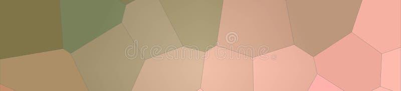 Ilustração do rosa e do fundo gigante pastel verde da bandeira do hexágono ilustração do vetor