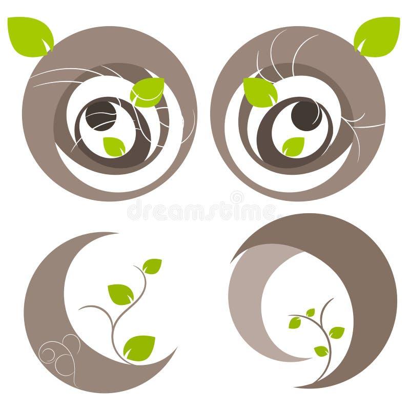 Ilustração do símbolo da árvore da natureza ilustração stock