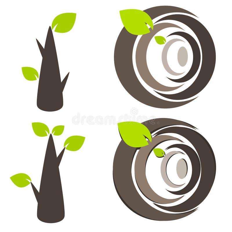 Ilustração do símbolo da árvore da natureza ilustração do vetor