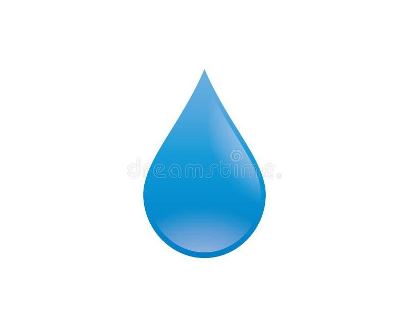 Ilustração do símbolo da gota da água ilustração stock