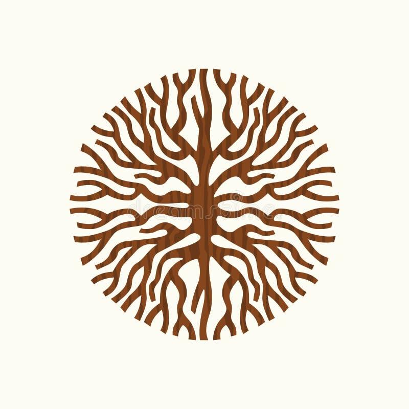 Ilustração do símbolo da natureza do conceito da raiz da árvore ilustração do vetor