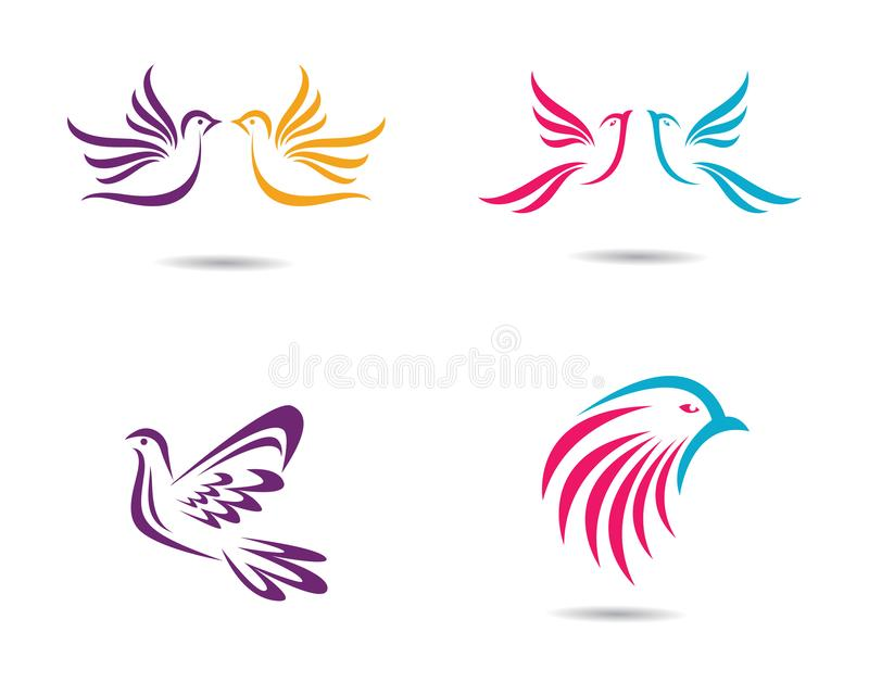 Ilustração do símbolo da pomba ilustração do vetor