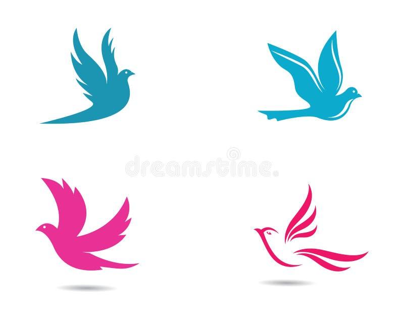 Ilustração do símbolo da pomba ilustração royalty free