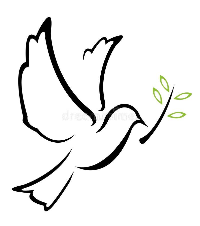Ilustração do símbolo da pomba foto de stock royalty free