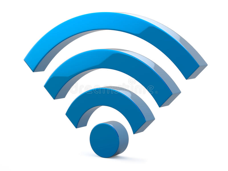 Ilustração do símbolo da rede wireless dos Wi Fi ilustração do vetor