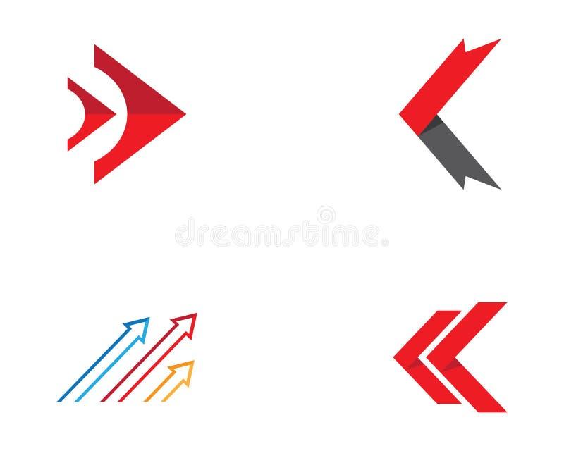 Ilustração do símbolo da seta ilustração stock