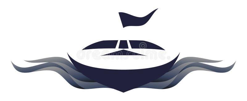 Ilustração do símbolo do logotipo da lancha ilustração do vetor