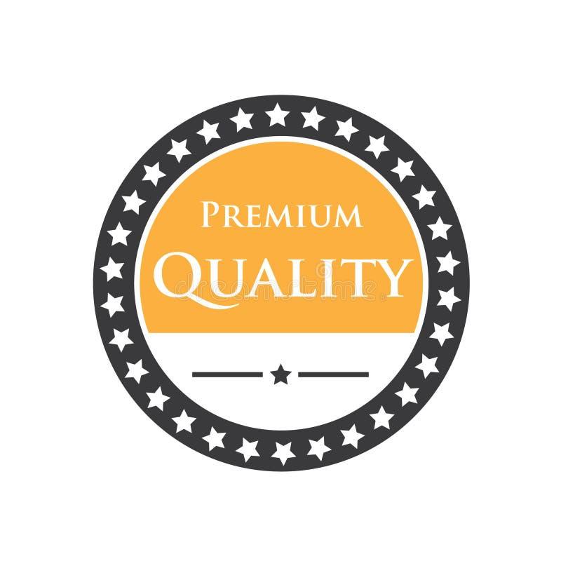 Ilustração do símbolo e do logotipo do emblema do crachá para o desconto, qualidade, prêmio, garantia, logotipo da empresa Vetor ilustração stock