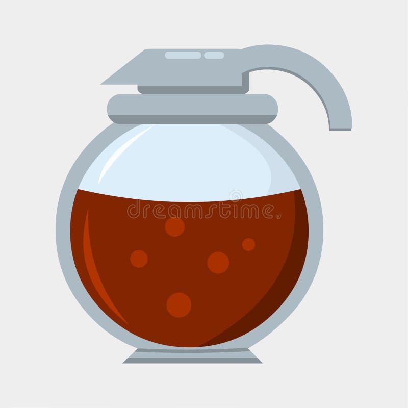 Ilustração do símbolo do vetor do potenciômetro do café ilustração royalty free