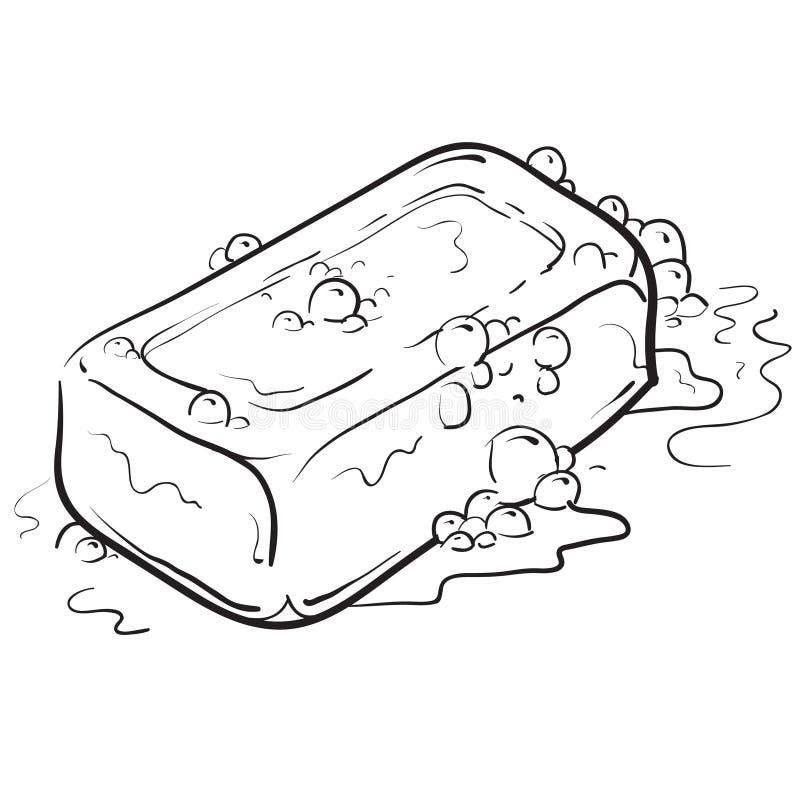 Ilustração do sabão e das bolhas ilustração do vetor