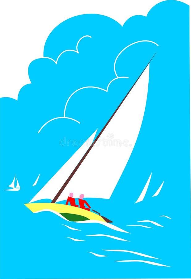 Ilustração do Sailboat imagens de stock royalty free